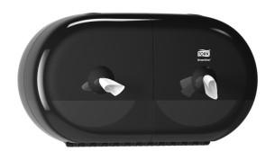 Tork SmartOne® Twin Mini annostelija wc-paperille musta T9