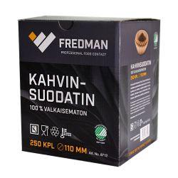 Fredman kahvinsuodatin 110mm, 250kpl