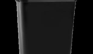 Katrin kannellinen roskakori 50 L - musta