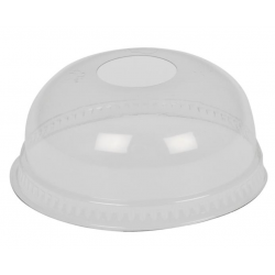 GASTRO-LINE kupolikansi reiällä Ø9,5cm 30,40,50cl PET kirkas 50kpl