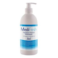 MediFresh Premium 3in1 nestesaippua hajusteeton 0,5L