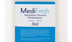 MediFresh Premium 3in1 nestesaippua hajusteeton 5L