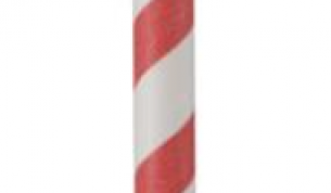 GASTRO-LINE paperipilli 25cm Ø6mm punavalkoraidallinen 250kpl